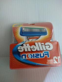 NEW! Gillette Fusion Replacement Razor Blades - 12 Refill Ca