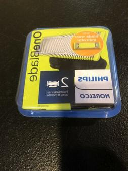 New Philips Norelco ONEBLADE Replacement Blade 2 Count Packa