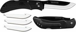 NEW Outdoor Edge Onyx Lite EDC Black Replaceable Blade Foldi