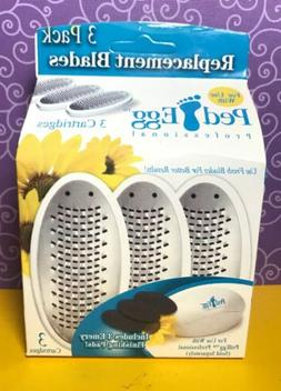 Ped Egg ❤️ NIB Replacement Blades Only 3 Pack Free Ship