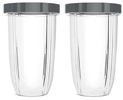 NUTRiBULLET 32-Ounce Cups with Screw-Off Lip Ring by NutriGe