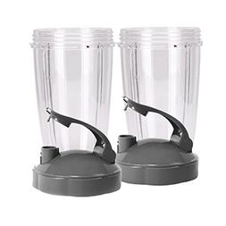 NUTRiBULLET 24-Ounce Cups with Flip Top To-Go Lid by NutriGe