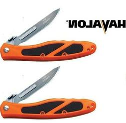 Havalon Piranta Edge Skinning Folding Field Knife Orange + B