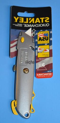 Quick-Change Utility Knife w/Retractable Blade & Twine Cutte