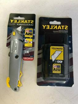 Stanley Quickchange Retractable Utility Knife and 100 Replac