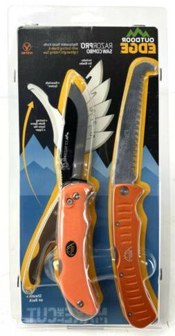 Outdoor Edge Razor-Pro/Saw Combo Folding Knife Box , Orange
