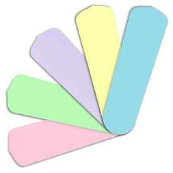 """Replacement Blades for 42"""" Ceiling Fan 5/pk Pastel Colors fo"""