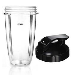 Cup and Flip Top Lid Compatible with NutriBullet Blender Rep
