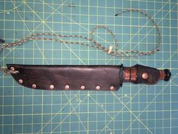 "Replacement Sheath 10"" X 2""Blade Knife Handmade Leather"