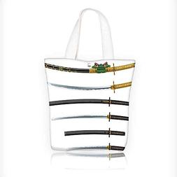 Reusable Cotton Canvas Zipper bag Set of Curved Slender Sing