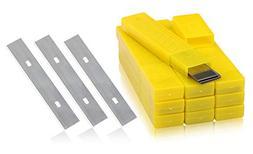 4-Inch Scraper Blades, Kattool 10PCS x 10Boxes Replacement S