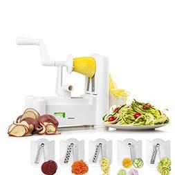 Food and Vegetable Spiralizer Mandoline Slicer: 5 Blade Spir