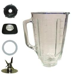 Blendin 5 Cup Square Top Glass Jar Assembly With Blade,Gaske