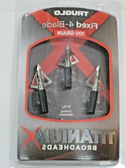 titanium broadhead 4 blade 100