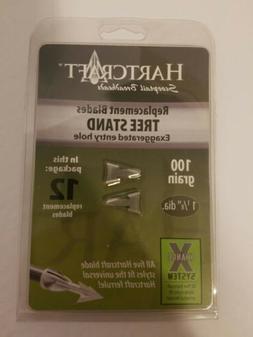 Hartcraft Broadheads Treestand 100 g Replacement Blades, 12-
