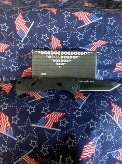 SOG Trident Assisted Folding Knife TF7-CP - Black TiNi 3.75""