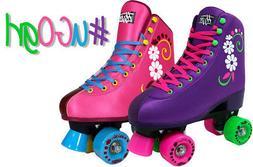 uGOgrl Roller Skates for Girls - Quad Kids Skate - Stylish F