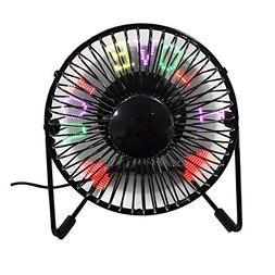 USB Programmable LED Desk Fan JUSTUP RGB Programmable Person