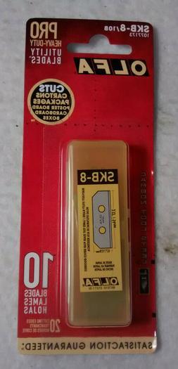 utility Blade,Square Point,18mm W,PK10 OLFA SKB-8/10B