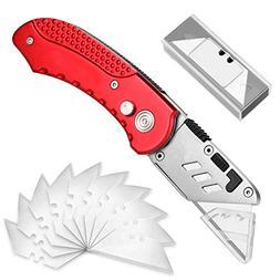 Utility Knife, AGPtEK Folding Utility Knife SK5 Sharp Blade