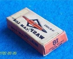 VINTAGE WASP CAM-LOK BROADHEAD REPLACEMENT BLADES-#418C-USED