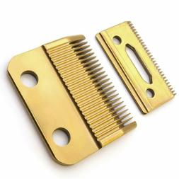 Wahl clipper parts replacement blades with Gold 2 hole blade