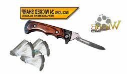 Wiebe Vixen Wicked Sharp Folding Scalpel Knife with 24 Repla