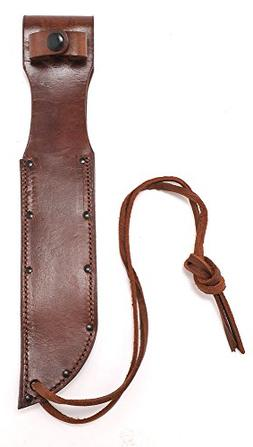 World War Two Style Brown Leather Sheath for US Navy Mark 2